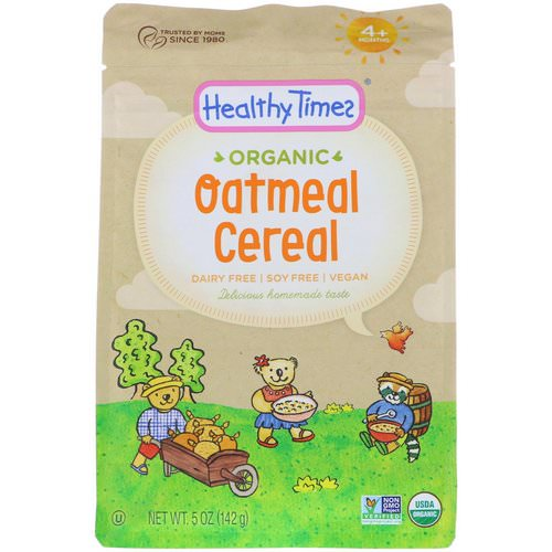 Healthy Times, Organic, Oatmeal Cereal, 4+ Months, 5 oz (142 g) Review