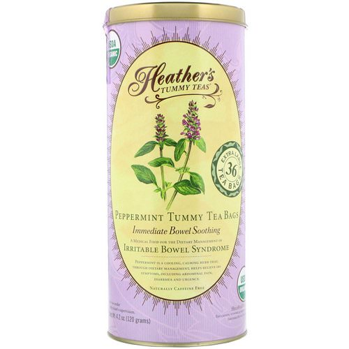 Heather's Tummy Care, Tummy Teas, Organic Peppermint Tea Bags, Caffeine Free, 36 Extra Large Tea Bags, 4.2 oz (120 g) Review