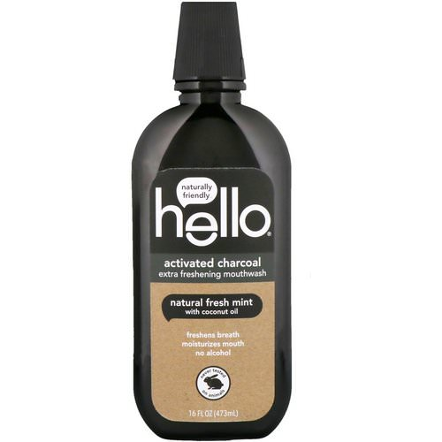 Hello, Activated Charcoal, Extra Freshening Mouthwash, Natural Fresh Mint, 16 fl oz (473 ml) Review
