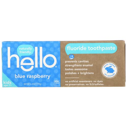 Hello, Kids, Fluoride Toothpaste, Blue Raspberry, 4.2 oz (119 g) Review