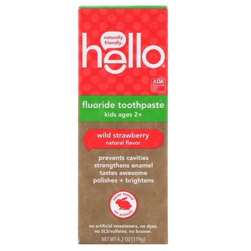 Hello, Kids, Fluoride Toothpaste, Wild Strawberry, 4.2 oz (119 g) Review