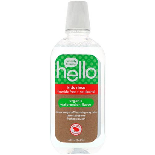 Hello, Kids Rinse, Fluoride Free + No Alcohol, Organic Watermelon Flavor, 16 fl oz (473 ml) Review