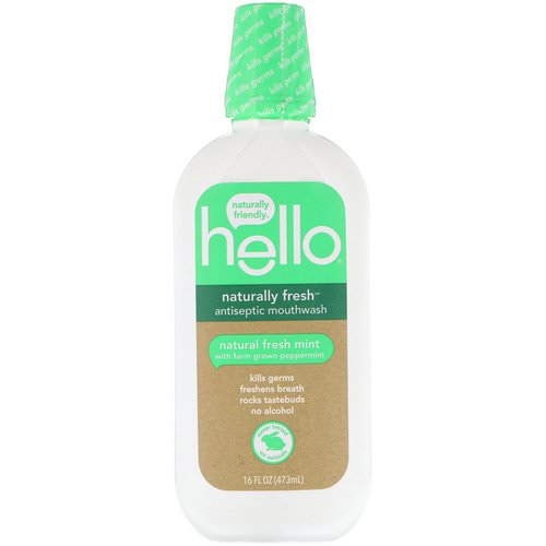 Hello, Naturally Fresh Antiseptic Mouthwash, Natural Fresh Mint, 16 fl oz (473 ml) Review