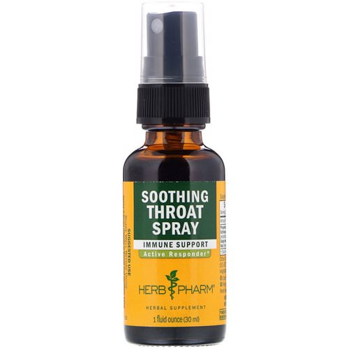 Herb Pharm, Soothing Throat Spray, 1 fl oz (29.6 ml) Review