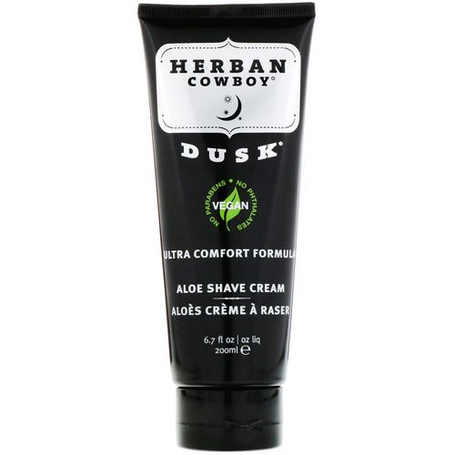 Herban Cowboy, Aloe Shave Cream, Dusk, 6.7 fl oz (200 ml) Review