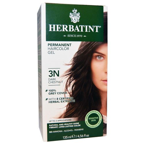 Herbatint, Permanent Hair Color, 3N, Dark Chestnut, 4.56 fl oz (135 ml) Review