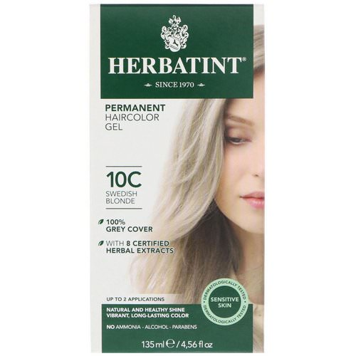 Herbatint, Permanent Haircolor Gel, 10C, Swedish Blonde, 4.56 fl oz (135 ml) Review