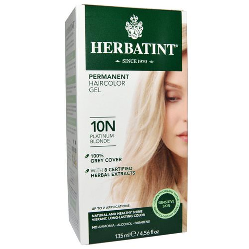 Herbatint, Permanent Haircolor Gel, 10N Platinum Blonde, 4.56 fl oz (135 ml) Review
