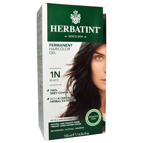 Herbatint, Permanent Haircolor Gel, 1N, Black, 4.56 fl oz (135 ml) Review
