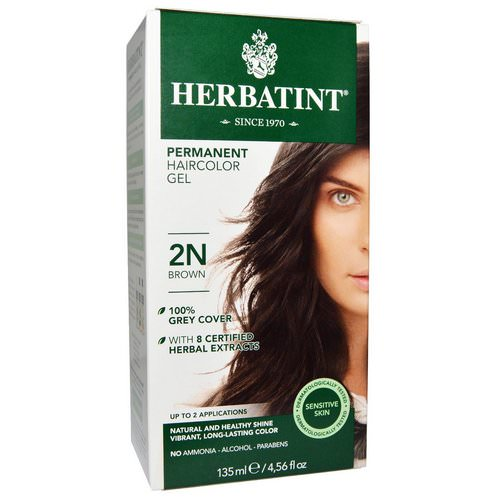 Herbatint, Permanent Haircolor Gel, 2N, Brown, 4.56 fl oz (135 ml) Review