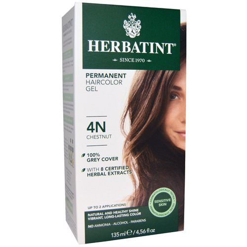 Herbatint, Permanent Haircolor Gel, 4N, Chestnut, 4.56 fl oz (135 ml) Review