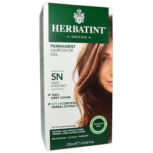 Herbatint, Permanent Haircolor Gel, 5N, Light Chestnut, 4.56 fl oz (135 ml) Review
