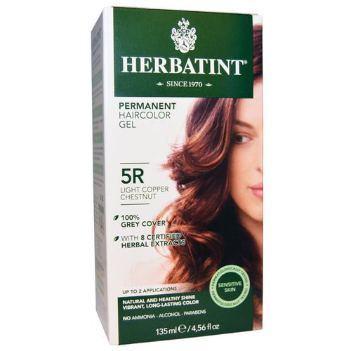Herbatint, Permanent Haircolor Gel, 5R Light Copper Chestnut, 4.56 fl oz (135 ml) Review