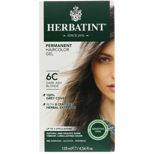 Herbatint, Permanent Haircolor Gel, 6C, Dark Ash Blonde, 4.56 fl oz (135 ml) Review