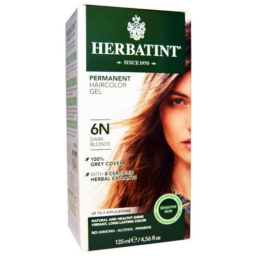 Herbatint, Permanent Haircolor Gel, 6N, Dark Blonde, 4.56 fl oz (135 ml) Review
