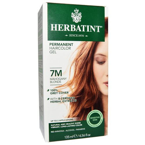 Herbatint, Permanent Haircolor Gel, 7M, Mahogany Blonde, 4.56 fl oz (135 ml) Review
