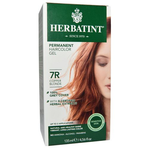 Herbatint, Permanent Haircolor Gel, 7R, Copper Blonde, 4.56 fl oz (135 ml) Review