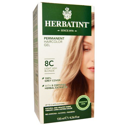 Herbatint, Permanent Haircolor Gel, 8C, Light Ash Blonde, 4.56 fl oz (135 ml) Review
