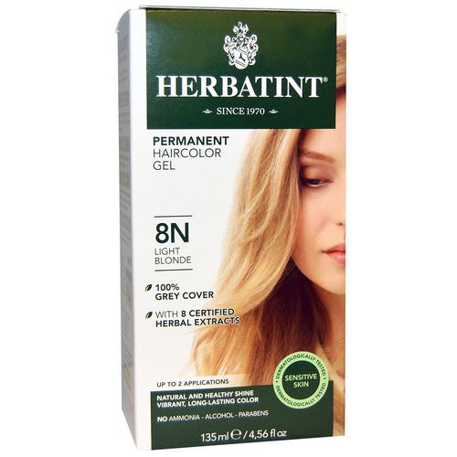 Herbatint, Permanent Haircolor Gel, 8N, Light Blonde, 4.56 fl oz (135 ml) Review
