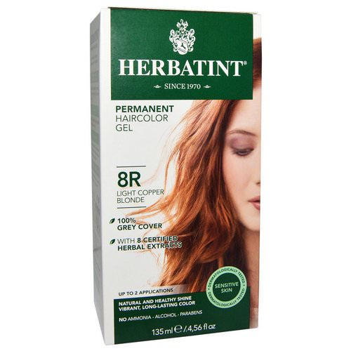 Herbatint, Permanent Haircolor Gel, 8R, Light Copper Blonde, 4.56 fl oz (135 ml) Review