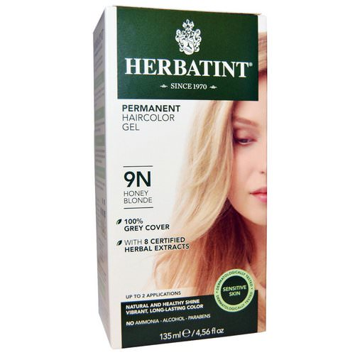 Herbatint, Permanent Haircolor Gel, 9N, Honey Blonde, 4.56 fl oz (135 ml) Review