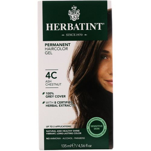 Herbatint, Permanent Haircolor Gel, 4C, Ash Chestnut, 4.56 fl oz (135 ml) Review