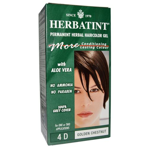Herbatint, Permanent Haircolor Gel, 4D Golden Chestnut, 4.56 fl oz (135 ml) Review