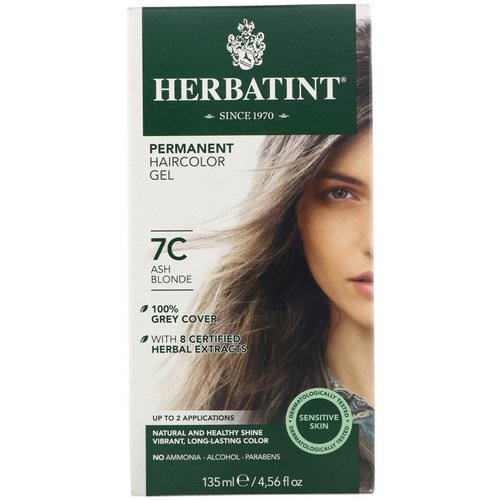 Herbatint, Permanent Haircolor Gel, 7C, Ash Blonde, 4.56 fl oz (135 ml) Review