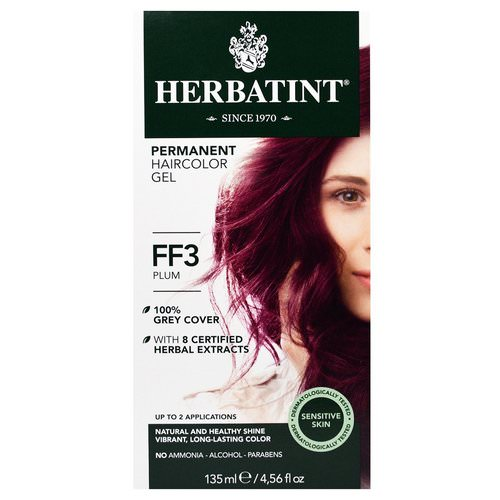 Herbatint, Permanent Haircolor Gel, FF 3, Plum, 4.56 fl oz (135 ml) Review