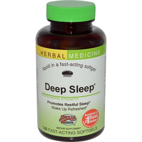 Herbs Etc, Deep Sleep, Alcohol Free, 120 Fast-Acting Softgels Review