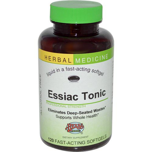 Herbs Etc, Essiac Tonic, Alcohol Free, 120 Fast-Acting Softgels Review