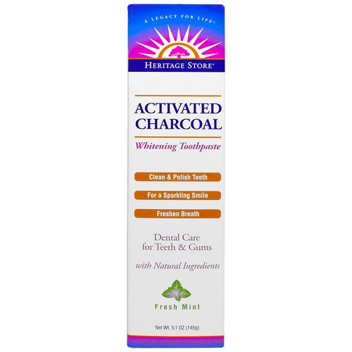 Heritage Store, Activated Charcoal Whitening Toothpaste, Fresh Mint, 5.1 oz (145 g) Review