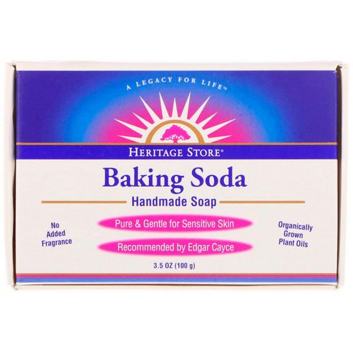 Heritage Store, Baking Soda Handmade Soap, 3.5 oz (100 g) Review
