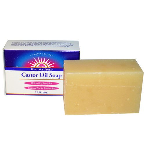 Heritage Store, Castor Oil Soap, Moisturizing Beauty Bar, 3.5 oz (100 g) Review