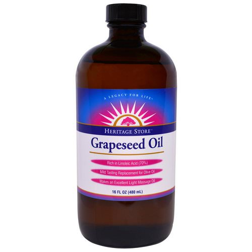 Heritage Store, Grapeseed Oil, 16 fl oz (480 ml) Review