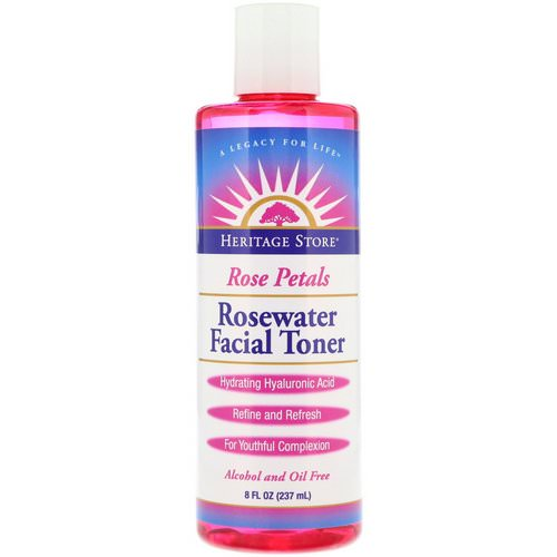 Heritage Store, Rosewater Facial Toner, Rose Petals, 8 fl oz (237 ml) Review