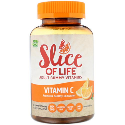 Hero Nutritional Products, Slice of Life, Adult Gummy Vitamins, Vitamin C, Natural Orange Flavor, 60 Gummy Vitamins Review
