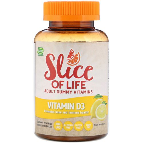 Hero Nutritional Products, Slice of Life, Adult Gummy Vitamins, Vitamin D3, Organic Lemon Flavor, 60 Gummy Vitamins Review