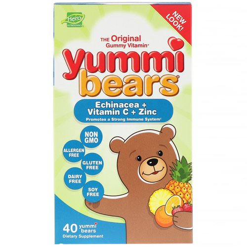 Hero Nutritional Products, Yummi Bears, Echinacea + Vitamin C + Zinc, 40 Yummi Bears Review