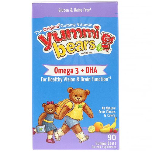 Hero Nutritional Products, Yummi Bears, Omega-3 + DHA, Natural Fruit Flavors, 90 Gummy Bears Review