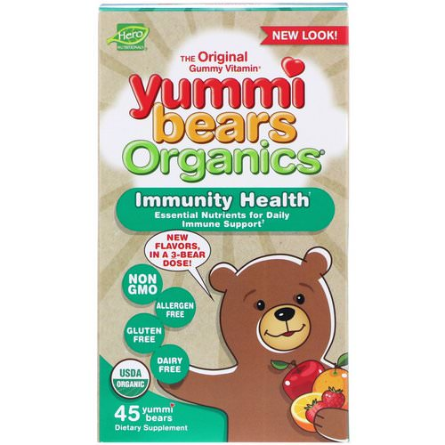 Hero Nutritional Products, Yummi Bears Organics, Immunity Health, 45 Yummi Bears Review