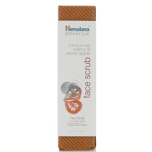 Himalaya, Botanique, Exfoliating Walnut & Wood Apple Face Scrub, 5.07 fl oz (150 ml) Review
