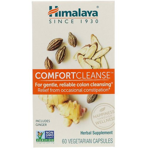 Himalaya, Comfort Cleanse, 60 Vegetarian Capsules Review