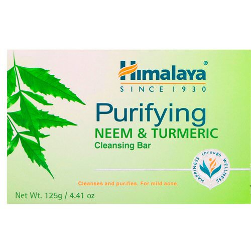 Himalaya, Purifying Cleansing Bar, Neem & Turmeric, 4.41 oz (125 g) Review