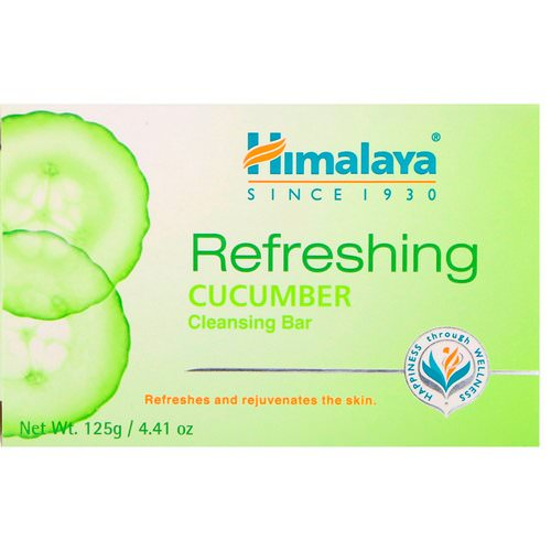 Himalaya, Refreshing Cleansing Bar, Cucumber, 4.41 oz (125 g) Review