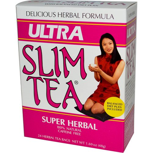 Hobe Labs, Ultra Slim Tea, Super Herbal, Caffeine Free, 24 Herbal Tea Bags, 1.69 oz (48 g) Review