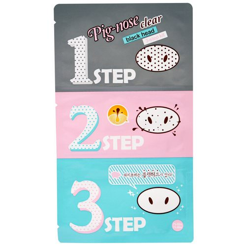 Holika Holika, Pig-Nose Clear Blackhead, 3 Step Kit, 1 Treatment Review