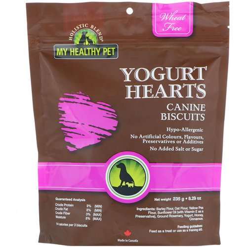 Holistic Blend, My Healthy Pet, Yogurt Hearts, Canine Biscuits, 8.29 oz (235 g) Review