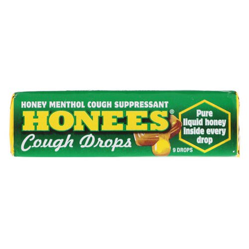 Honees, Menthol Eucalyptus Cough Drops, 9 Drops Review