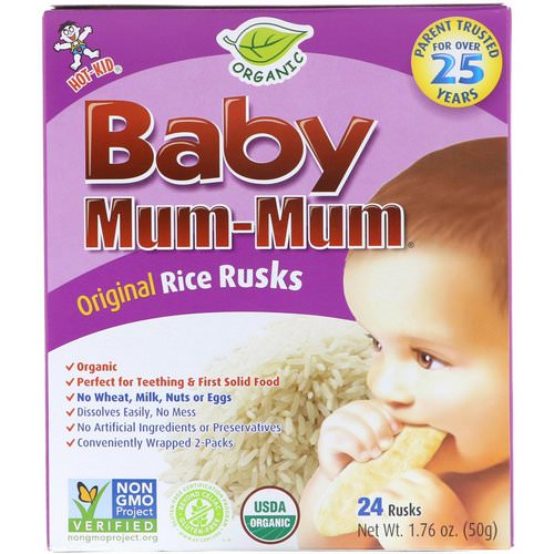 Hot Kid, Baby Mum-Mum, Organic Rice Rusks, 24 Rusks, 1.76 oz (50 g) Review